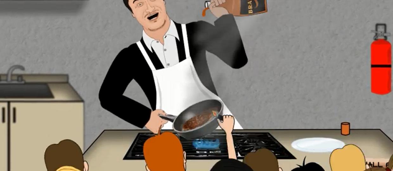 Animowany Mike Patton nauczy Cię gotować