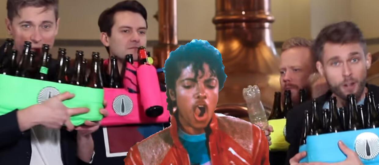 """""""Beat It"""" Michaela Jacksona zagrany na butelkach wraz z solówką Eddiego Van Halena"""