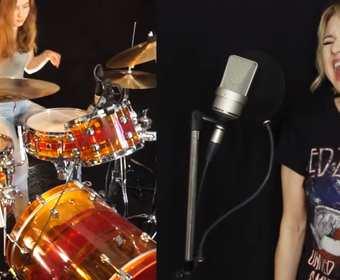"""""""Black Dog"""" Led Zeppelin w wykonaniu nastoletniej perkusistki Siny"""