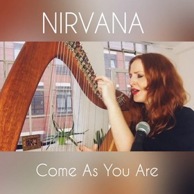 Cover Nirvany Come As You Are w wykonaniu harfistki