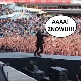"""Dave Grohl strollował szwedzkich fanów """"swoim"""" upadkiem ze sceny"""