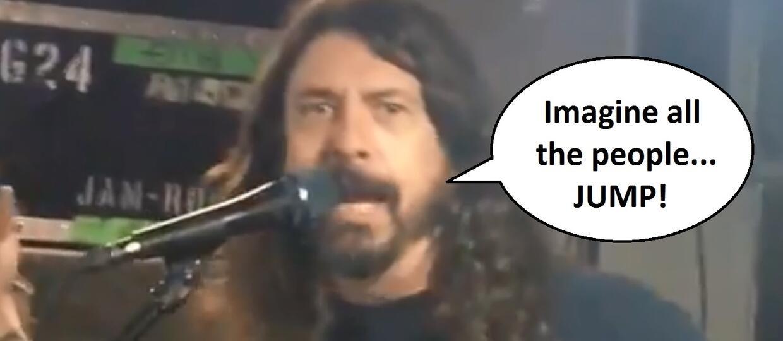 "Foo Fighters zagrał mashup ""Imagine"" Johna Lennona i ""Jump"" Van Halen"