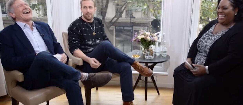 """Ford i Gosling śmieszkują i piją whisky w trakcie wywiadu o """"Blade Runner 2049"""""""