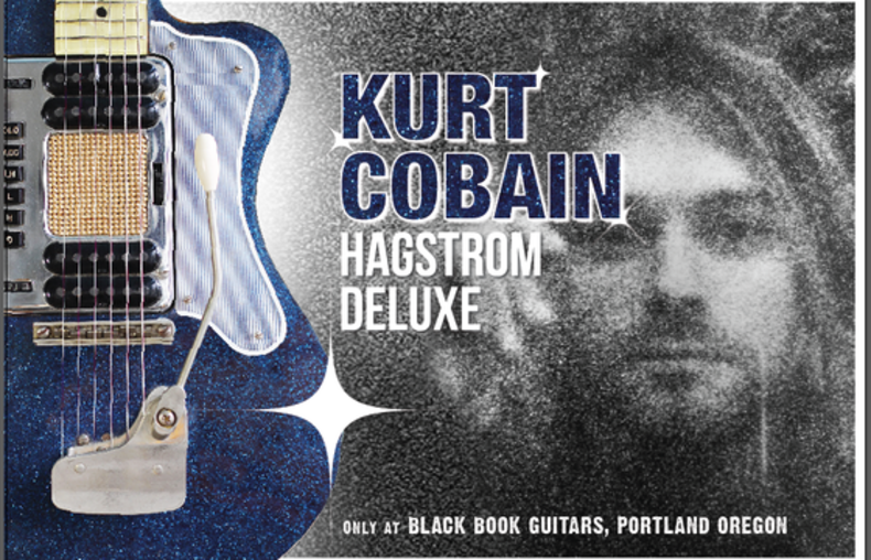 Black Book Guitars _Kurt Cobain Hagstrom Blue Sparkle Deluxe