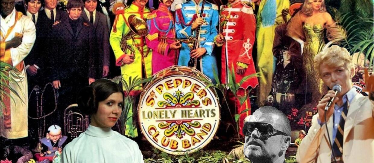 "Gwiazdy zmarłe w 2016 na okładce ""Sgt. Pepper's Lonely Hearts Club Band"" The Beatles"