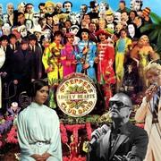 "Gwiazdy zmarłe w 2016 na okładce ""Sgt. Pepper's Lonely Hearts Club Band"" The Beatles"