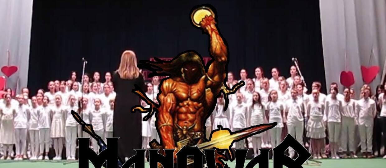 """""""Heart Of Steel"""" Manowar w wykonaniu dziecięcego chóru"""