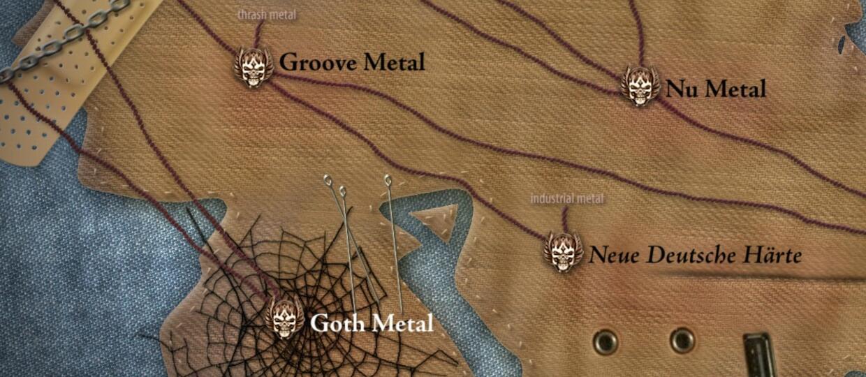Interaktywna Mapa Metalu nauczy Cię wszystkiego o ciężkiej muzyce