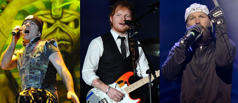 Iron Maiden i Limp Bizkit zagrane przez Eda Sheerana