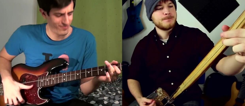 Jak brzmi pojedynek gitarowej łopaty i jednostrunowego basu?