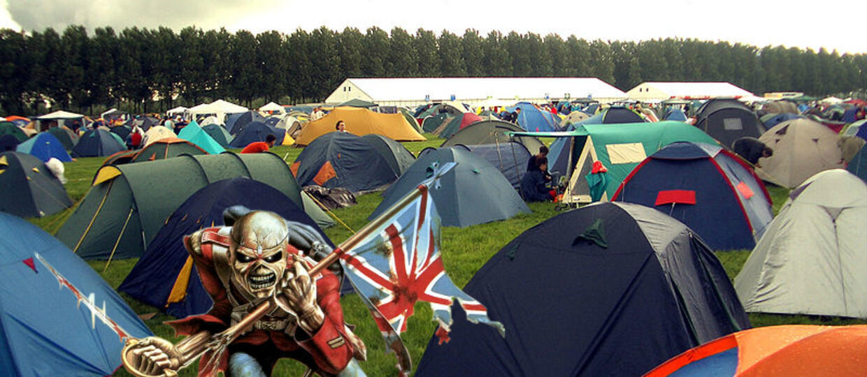 Jak wygląda namiot prawdziwego fana Iron Maiden?