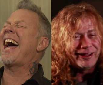 """James Hetfield i Dave Mustaine """"wyhahali"""" utwór """"The Four Horsemen"""" Metalliki"""