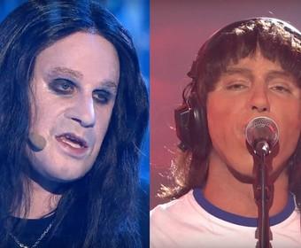Marcel Sabat jako Ozzy Osbourne i Mariusz Ostrowski jako Roger Waters w Twoja twarz brzmi znajomo