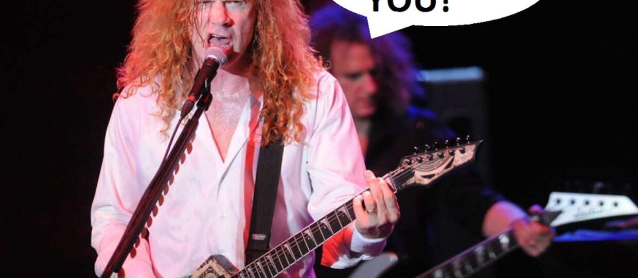 Nerwowe reakcje Dave'a Mustaine'a na koncertach Megadeth