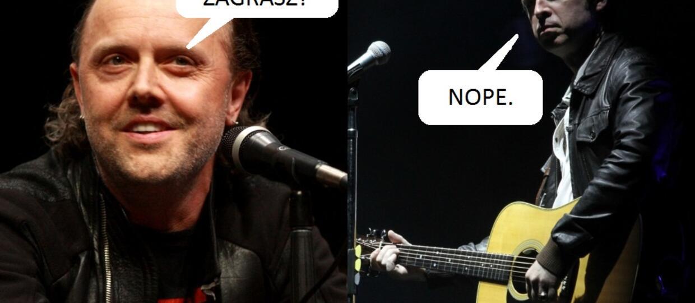 Noel Gallagher nie chciał zaśpiewać na ślubie Larsa Ulricha