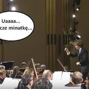 Orkiestra obudziła widza z drzemki podczas koncertu