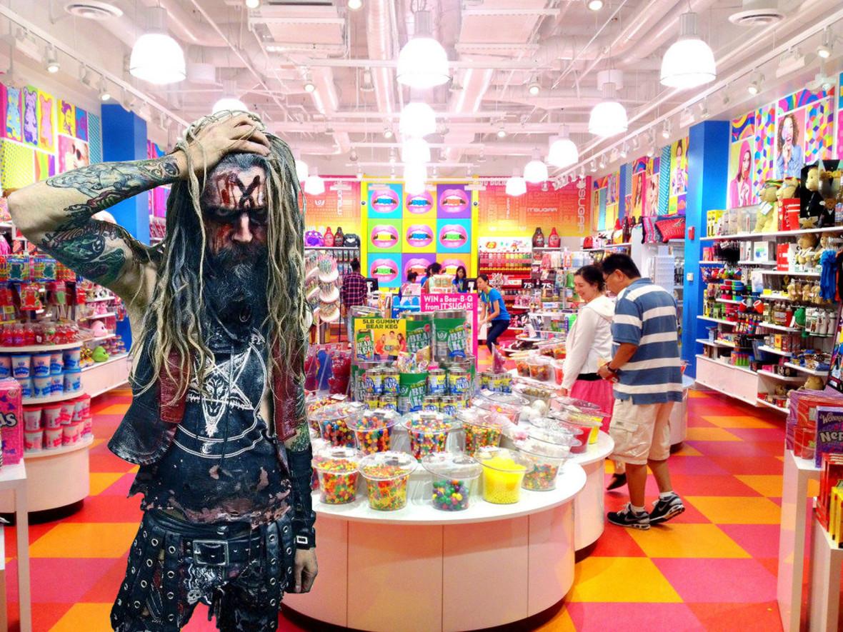 Rob Zombie sprzedaje cukierki!