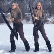 """Słynne bliźniaczki Harp Twins zagrały na harfach """"Immigrant Song"""" Led Zeppelin"""