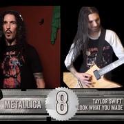 Utwory Taylor Swift, Britney Spears i Darude zagrane w stylu Metalliki