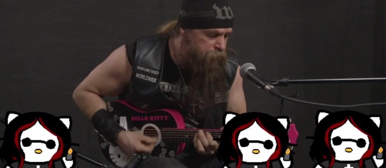 Zakk Wylde zagrał utwór Black Sabbath z Hello Kitty