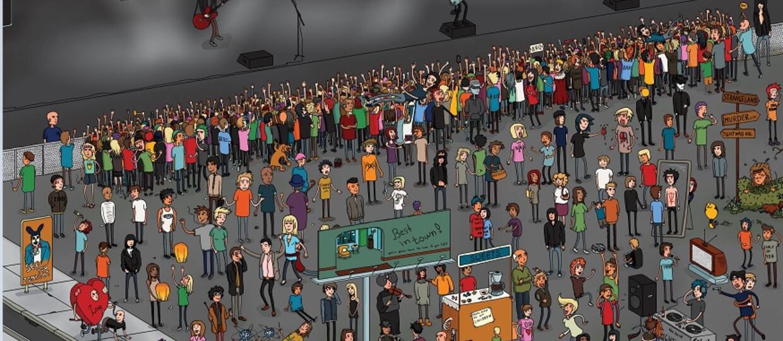 Znajdź na obrazku 151 nawiązań do twórczości Green Day