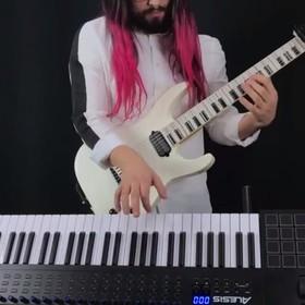 """""""Zombie"""" The Cranberries zagrany jednocześnie na gitarze i klawiszach"""
