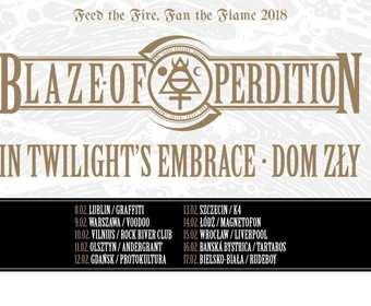 Blaze Of Perdition, In Twilight's Embrace i Dom Zły na wspólnej trasie po Polsce, Litwie oraz Słowacji