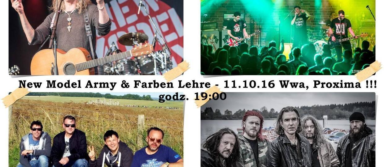 Farben Lehre zagra przed New Model Army w Warszawie