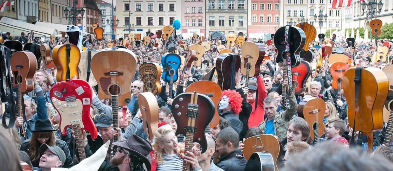Gitarowy Rekord Guinnessa we Wrocławiu [GALERIA]