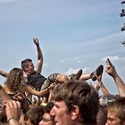 Metalowcy na festiwalu metalowym