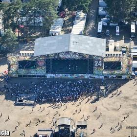 Pol'and'Rock 2018: Jak wyglądał festiwal z lotu ptaka? Policja pokazała zdjęcia ze śmigłowca