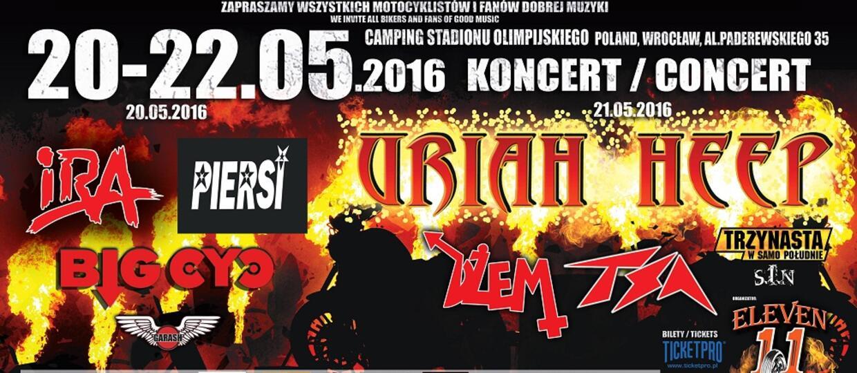 Uriah Heep wystąpi podczas Eleven Bike Fest 2016