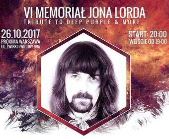 Wygraj bilety na VI Memoriał Jona Lorda w Warszawie