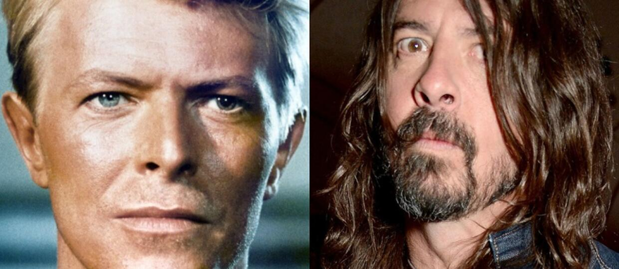 David Bowie i Dave Grohl z Foo Fighters