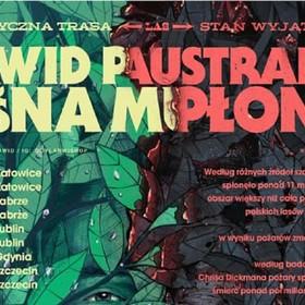 """plakat trasy """"Leśna Muzyka"""" Dawida Podsiadło"""