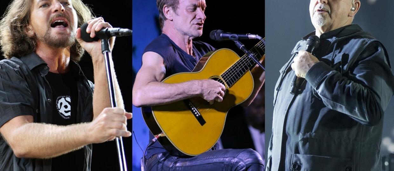 Eddie Vedder, Sting i Peter Gabriel wystąpili na jednej scenie