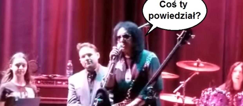 Gene Simmons pogonił zadymiarza, który obraził go na koncercie
