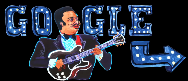 B.B.King w Google Doodle