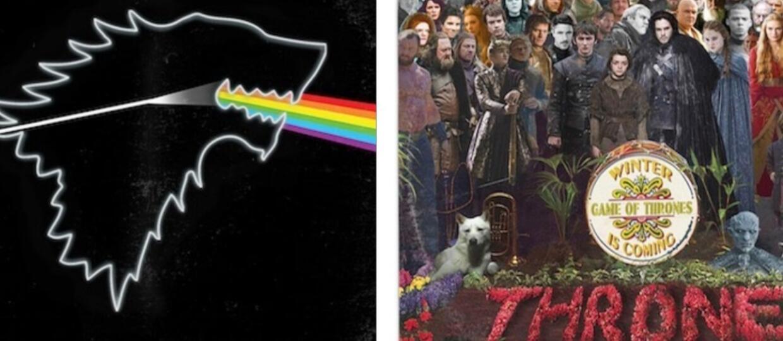 """Zobaczcie okładki znanych rockowych albumów przerobione na wersję z """"Gry o tron"""""""