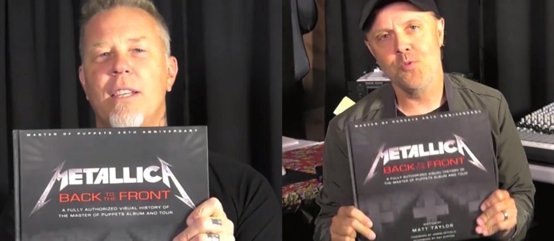 "James Hetfield i Lars Ulrich pokazali książkę o ""Master of Puppets"""