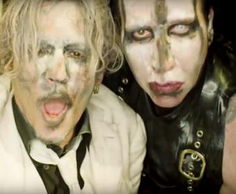 """Johnny Depp wystąpił w klipie Marilyna Mansona do """"Say10"""""""