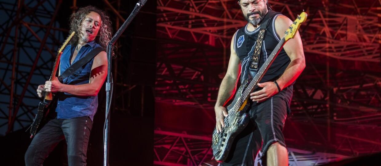 Kirk Hammett i Rob Trujillo