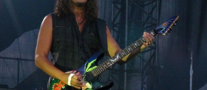 Kirk Hammett z własnym wzmacniaczem Randalla