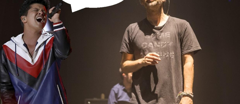 Koncert Radiohead został przerwany przez utwór Bruno Marsa