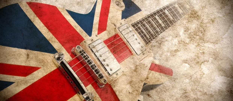 Gitara z brytyjską flagą