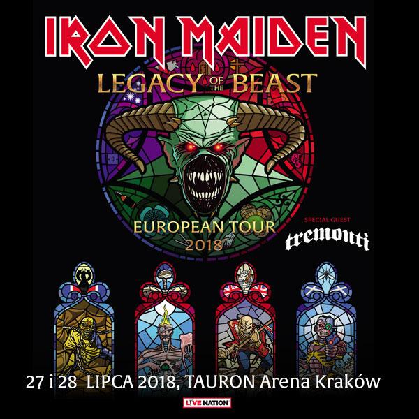 Iron Maiden W Polsce Plakat Promujący Koncert Zdewastowany