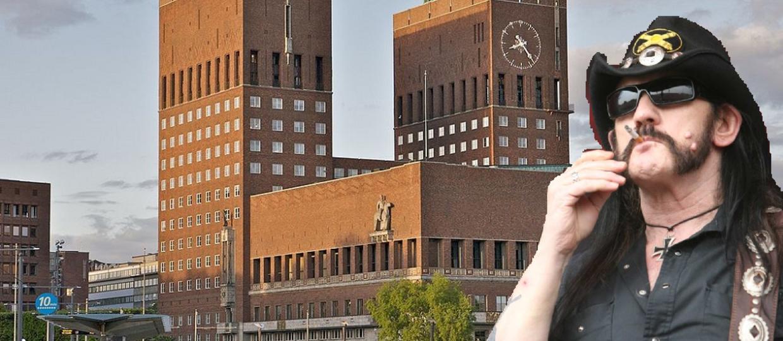Ratusz w Oslo w hołdzie Lemmy'emu