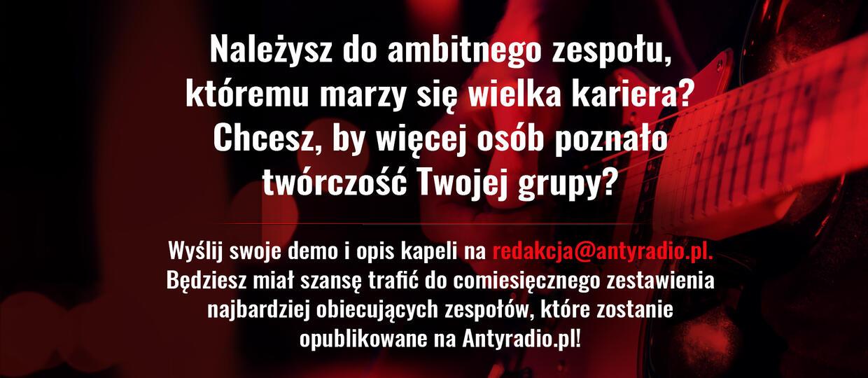 #Rockowa10 najbardziej obiecujących polskich zespołów według Antyradio.pl. Jak zgłosić swoją kapelę?