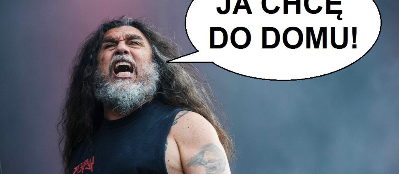 Tom Araya ze Slayera jest zmęczony życiem w trasie i chce do domu