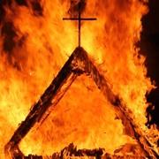 Płonący kościół